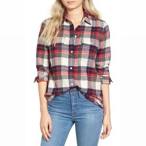 Madewell Flannel Plaid Boyfriend Shirt